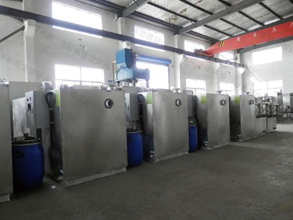 中餐室内大型自动除渣不锈钢油水分离器厂商