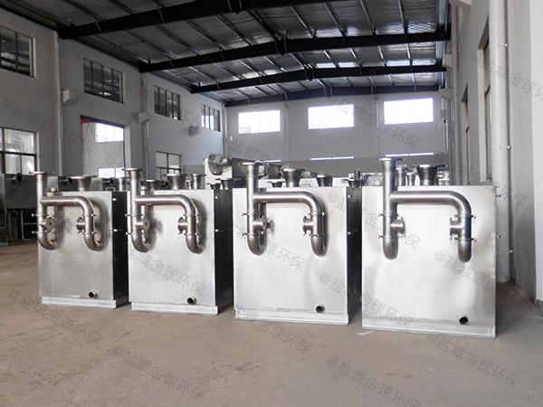 餐饮环保大型室外半自动排水隔油设备怎么使用