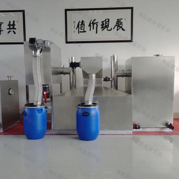 餐饮商户埋地式中小型自动除渣隔油设备的设置