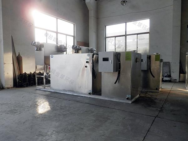 工厂食堂室外大型无动力污水处理隔油池需要哪些设备