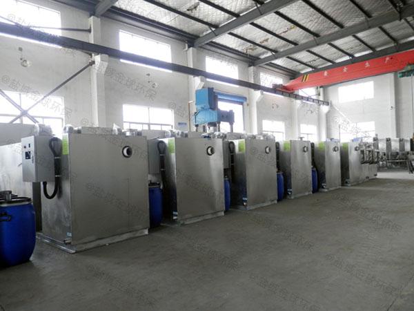 饭店户外大型自动化气浮油水分离器规格价格