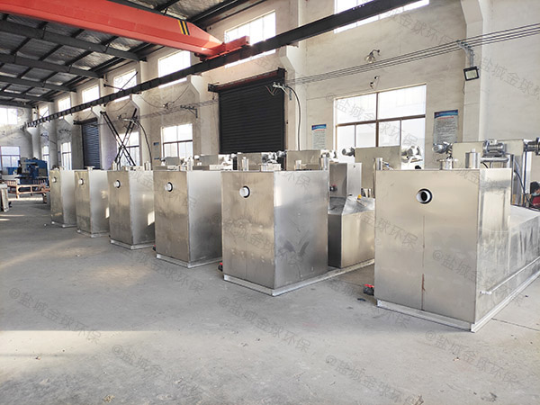 火锅中小型地面简单油水分离提升设备安装方案
