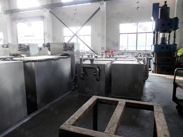 餐饮地下室自动提升油水分离处理机设计要求