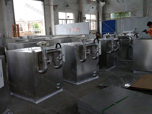 餐饮类中小型自动提升三仓式隔油池哪里买