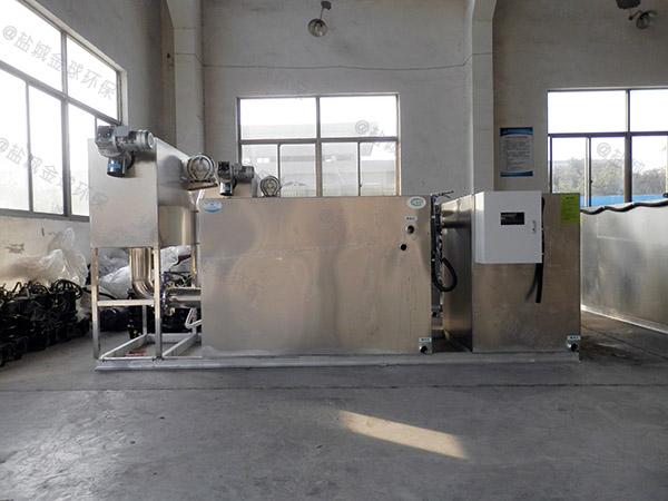 厨余大地下机械油水分离器设备安装效果图