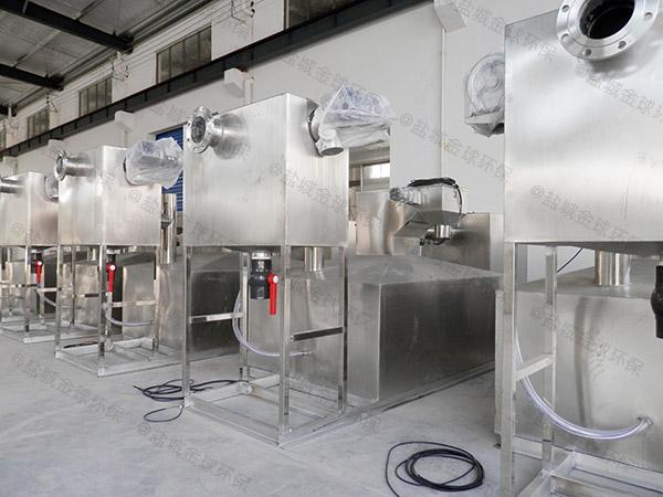 工地食堂室外大型分体式油水分离器与隔油池在哪个位置
