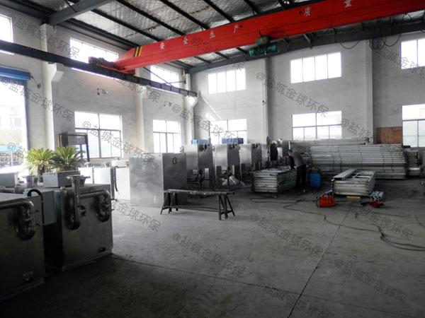工厂食堂大型地下式全能型隔油提升一体机合格证