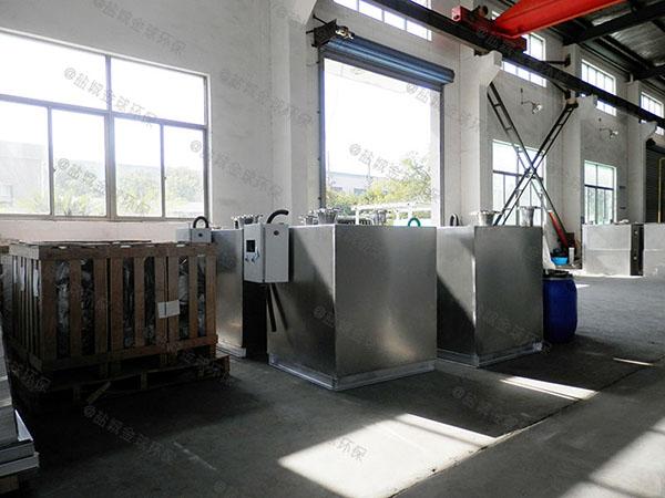 餐饮业室内大型自动提升油水分离器隔渣池改造哪家好