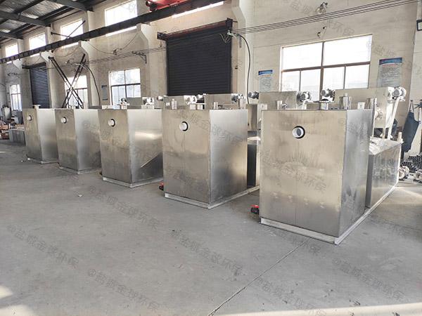 饭馆大型室内自动提升油水分离处理机价格是多少