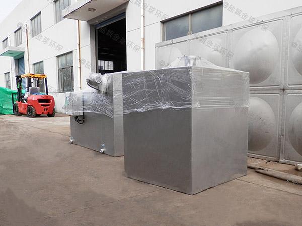 学校大型地下式自动排水污水处理隔油设备效果