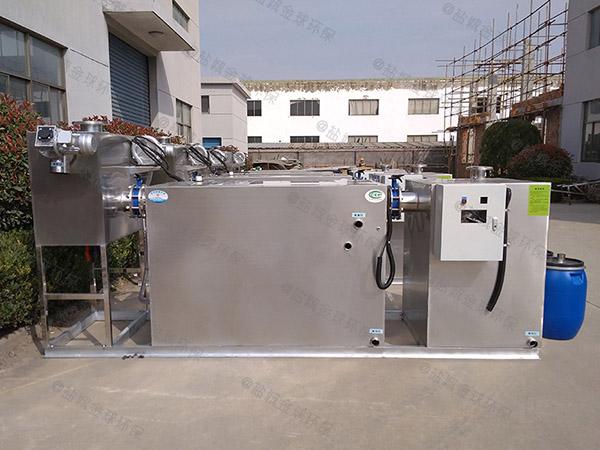餐饮类埋地移动式油水分离器和隔油池的做法