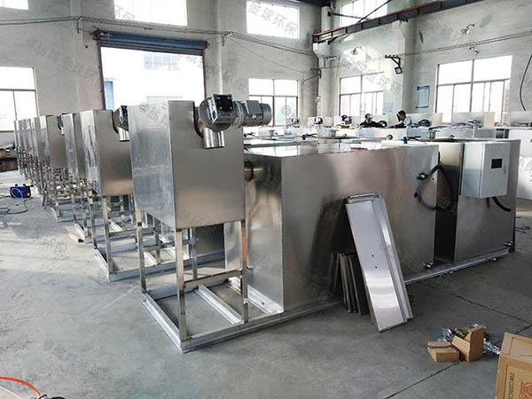 火锅店大型地上自动刮油油水分离器与隔油池公司
