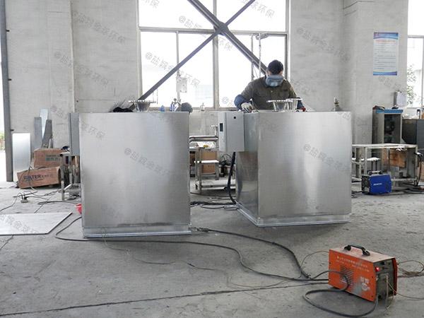 餐用地上式中小型自动化油水分离器和隔油池多少人选多大的