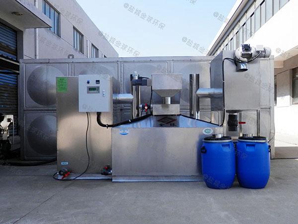小饭店大室外半自动油水分离污水处理设备技术参数
