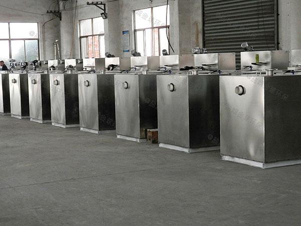 商场餐饮大型地下式自动刮油油脂分离装置的原理