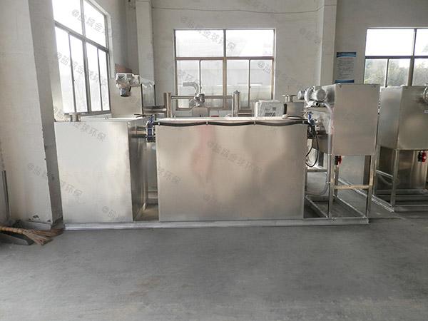 食堂用地下室自动隔油强排设备工艺流程