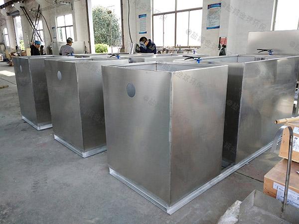 餐馆埋地式大简易一体式油水分离器安装方案