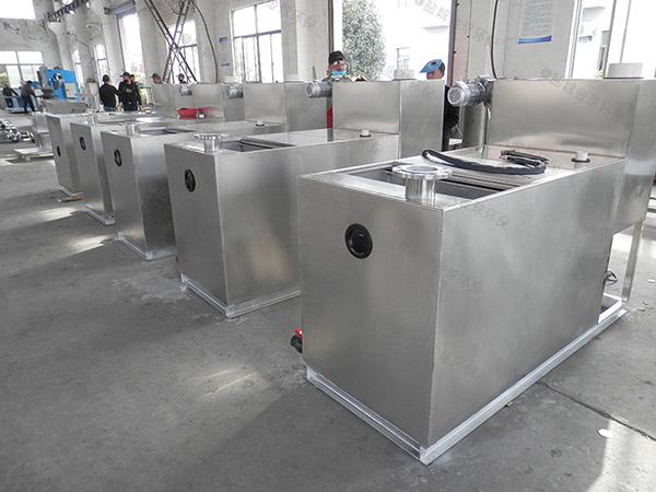食堂用大型机械一体化油水分离提升设备原理图