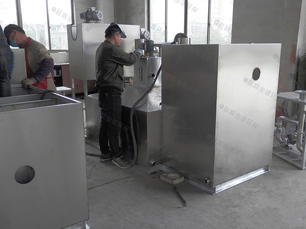 工厂食堂大埋地自动一体化隔油提升设备结构图