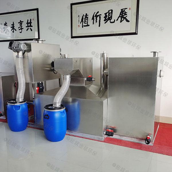 餐饮行业中小型全能型油水分离机的做法
