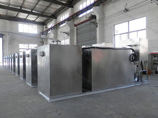 食堂无动力气浮式隔油池操作
