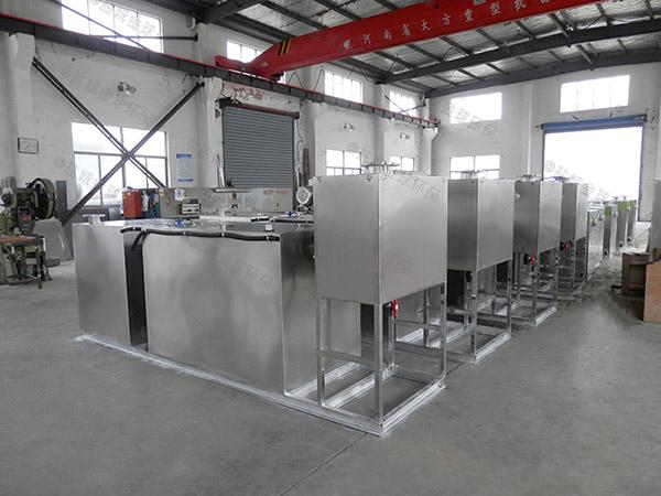 工厂食堂大地上式全自动水油分离装置效果