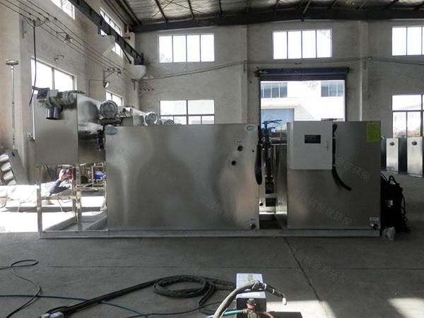 餐厨垃圾室外中小型自动排水气浮油水分离器使用