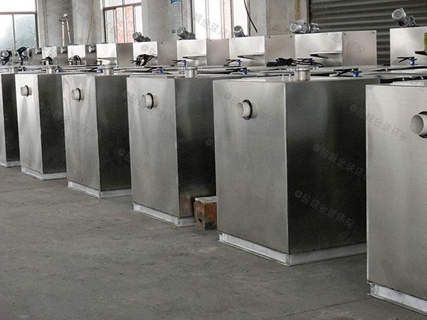 单位食堂100人用砖做隔油净化设备十大品牌