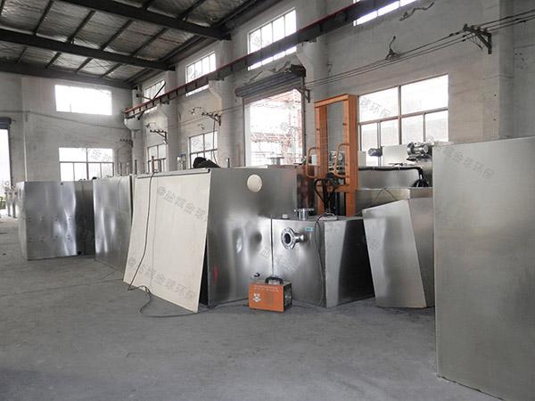 3.5米*1.35米*1.85米食堂自动化油水处理器选型