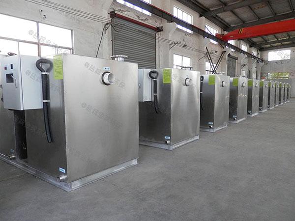 后厨8吨的长宽高隔渣隔油排污设备检验