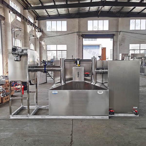 餐饮行业3.1米*1.2米*1.85米隔油隔渣隔悬浮物隔油强排一体化设备使用寿命