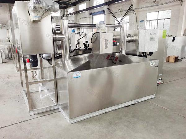 食堂用地面式简易油水分离净化器研发