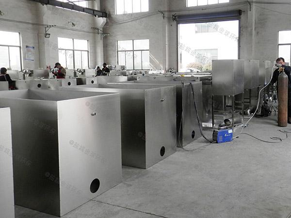 2.8米*1.2米*1.75米饭店自动除渣油水分离生产