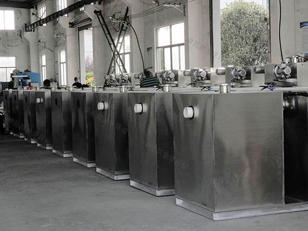 工地食堂30立方隔渣隔油除油设备简介