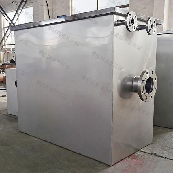 饭堂2.8米*1.2米*1.75米隔渣隔油除渣一体化设备检验