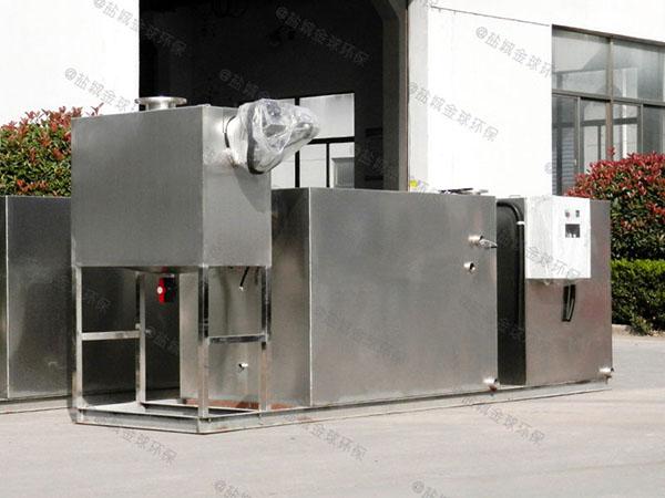 餐饮环保2号隔渣隔油成套设备结构图