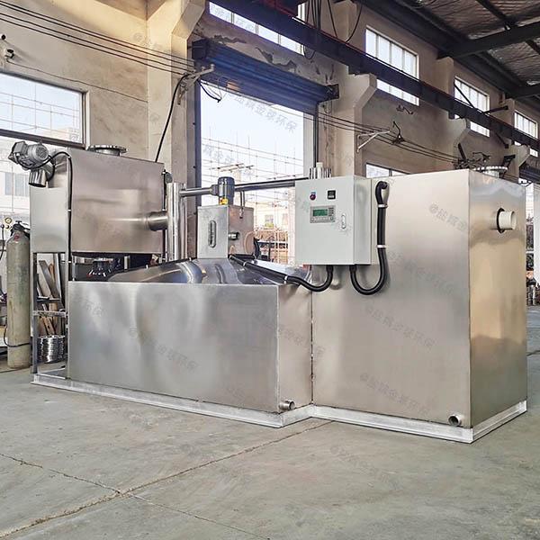 餐饮类2.8米*1.2米*1.75米隔渣除油污水处理设备设计标准