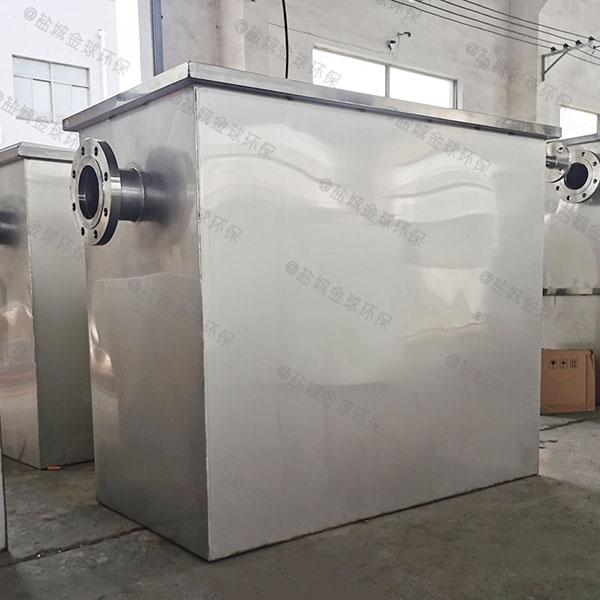 餐饮环保8吨的长宽高隔渣隔油污水提升装置简图