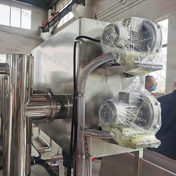 餐饮行业500人砖砌隔油强排一体化设备类型