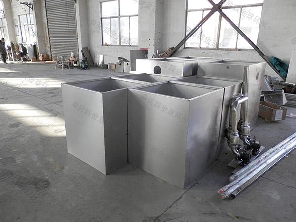 100人厨房洗菜盆下水潲水隔油污水提升一体化设备的设计计算