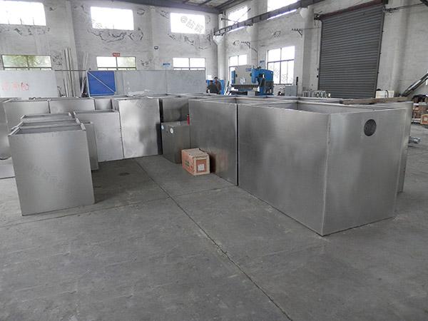 3.1米*1.2米*1.85米餐饮厨房水池泔水气浮隔油器工程