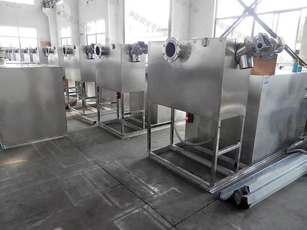 2号餐饮厨房水池污水气浮隔油器的选型