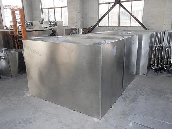 3.1米*1.2米*1.85米小餐饮室内隔油一体化提升设备定做