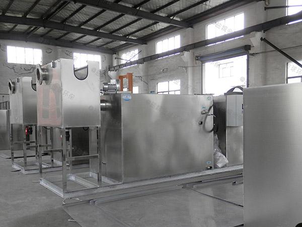 1000人厨房洗菜盆下水泔水隔油一体设备的选择