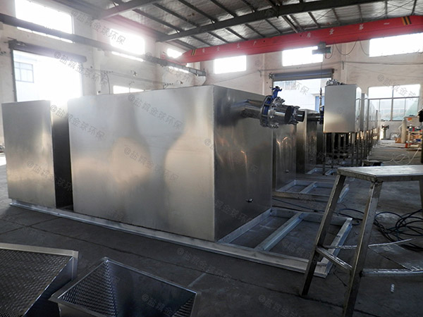 3.1米*1.2米*1.85米厨房洗菜盆下水废水隔油一体化设备工作原理图