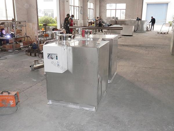 甲型厨房下水潲水排水隔油设备的效率