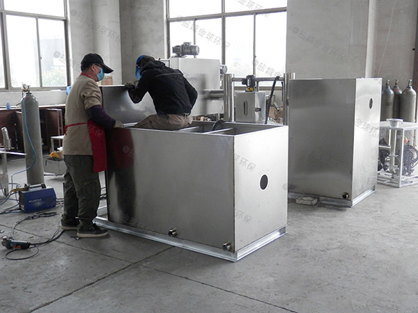 2.8米*1.2米*1.75米厨房下水污水气浮式油水分离机工程