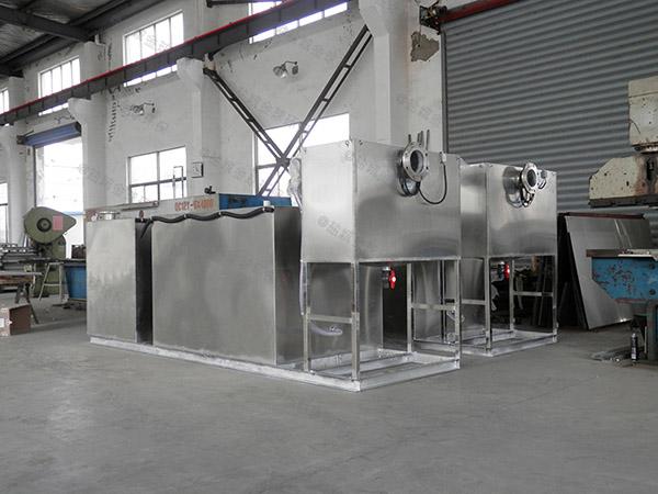 1000人厨房下水混凝土隔油污水提升装置工艺流程