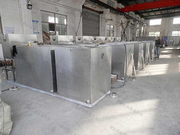 8吨的长宽高小餐饮混凝土排水隔油设备的去除率