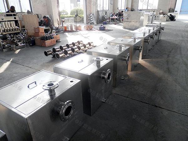 500人餐饮厨房水池用砖做隔油一体设备供应厂家